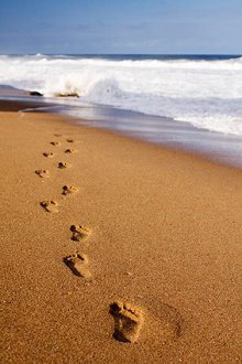 About Counselling. Library Image: Footsteps in Sand